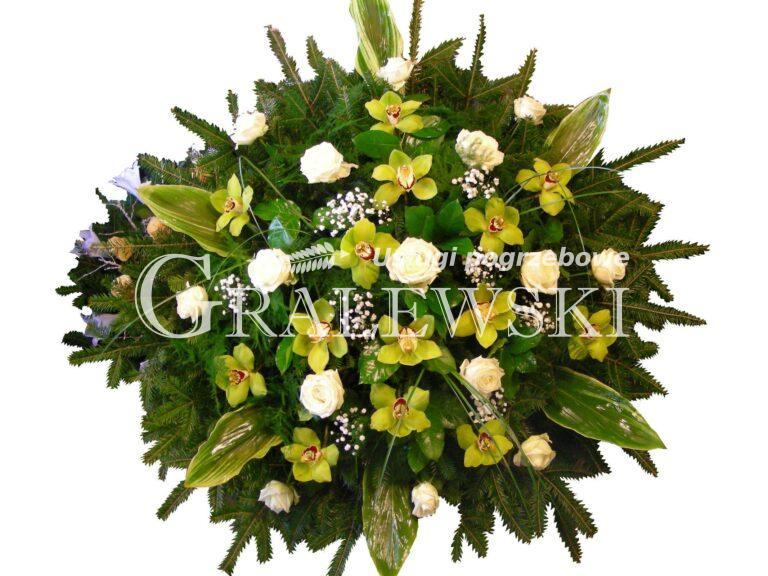 10. Wieniec mały okrągły róża+storczyk 390 PLN
