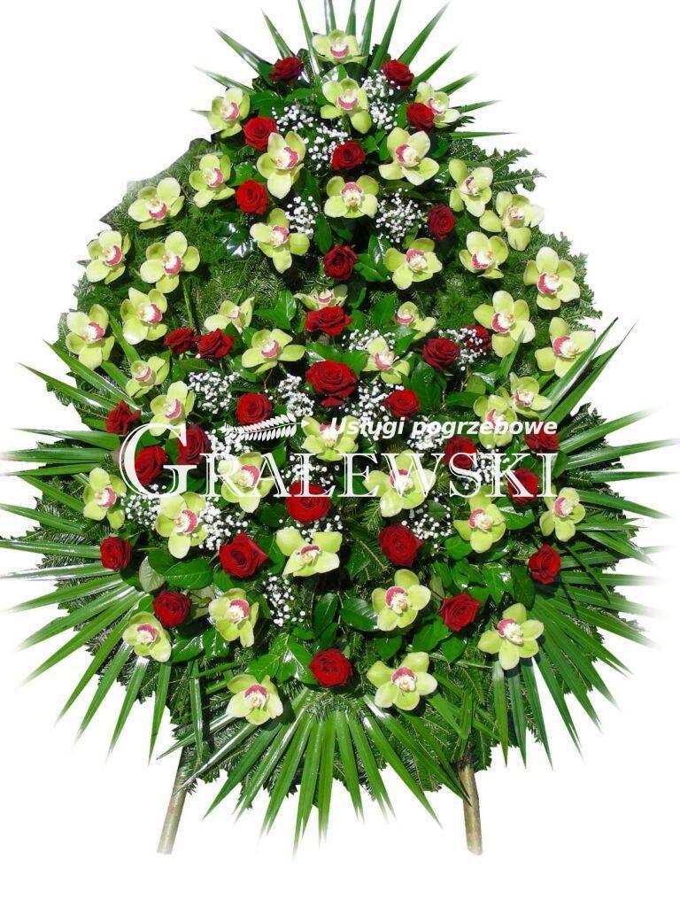 16. Wieniec Łezka róża+storczyk 550,00 PLN