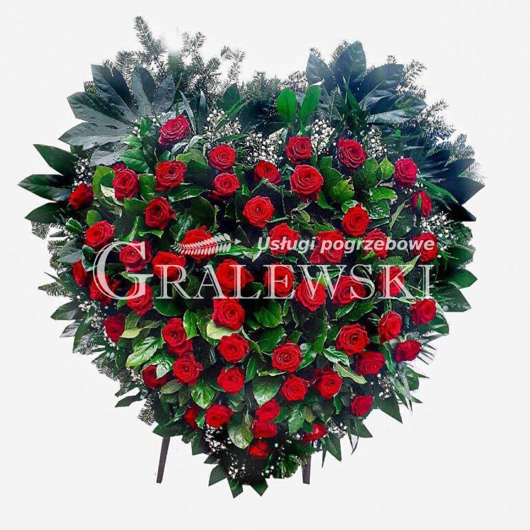 2. Wieniec Serce róże 750,00 PLN