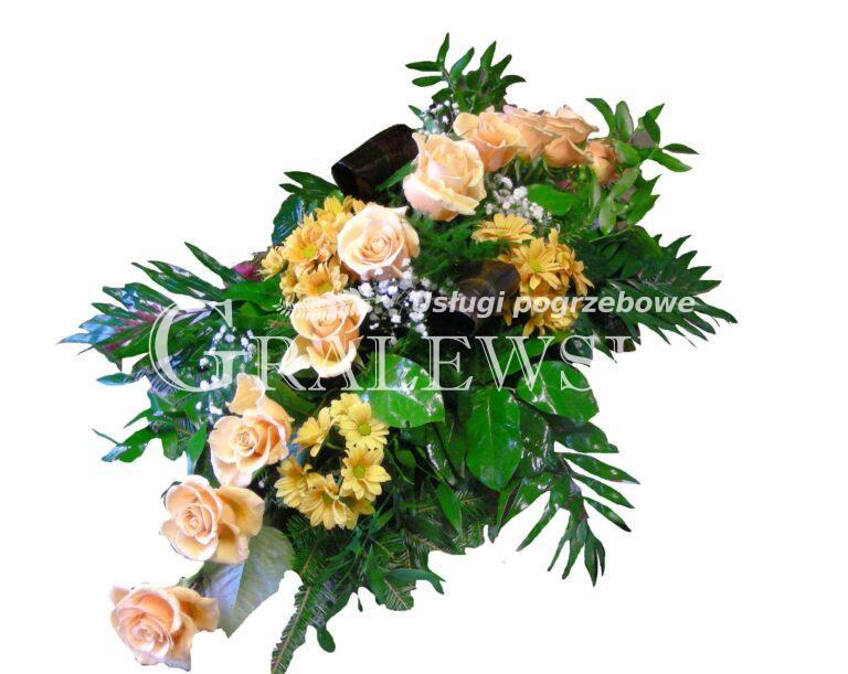 3. Stoik na trumnę 200,00 PLN róża łososiowa