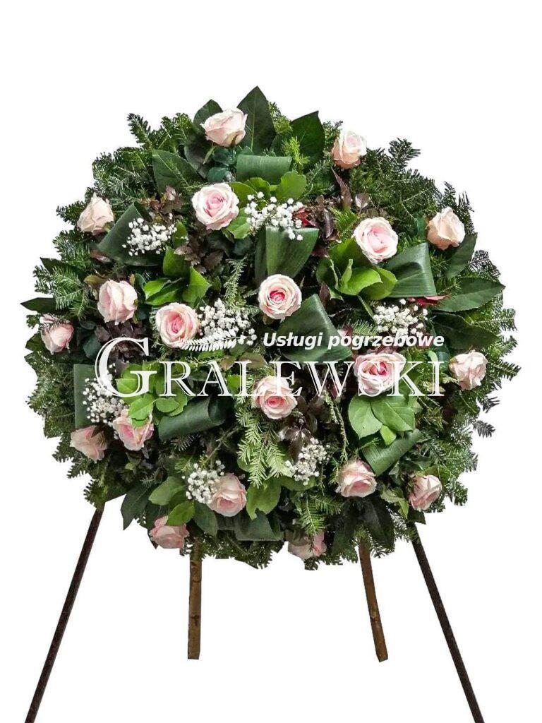3. Wieniec mały okrągły róża 350 zł